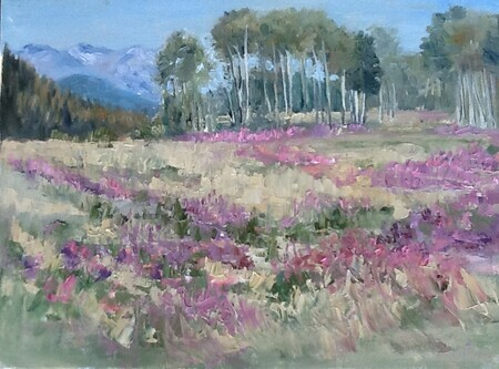 Mountain meadow and fireweed